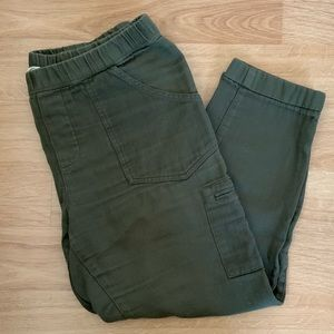 Roxy Camo Green Pants with elastic wasteband